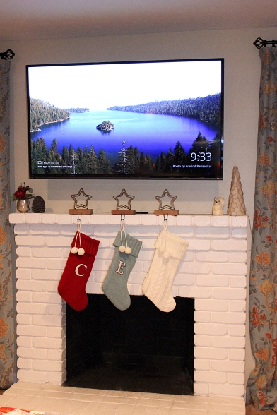 Our Christmas mantel decorations