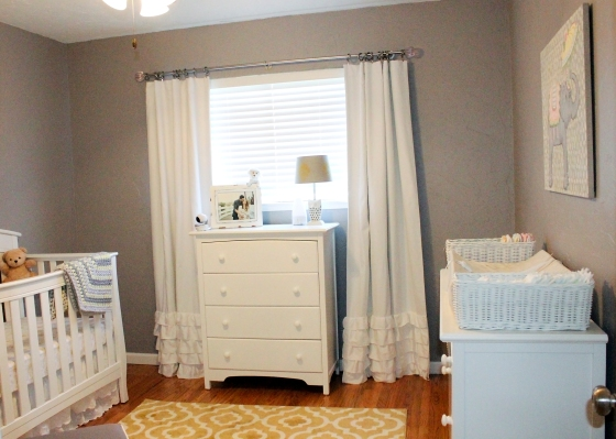 Claire's Nursery! This is the view when you enter the room.