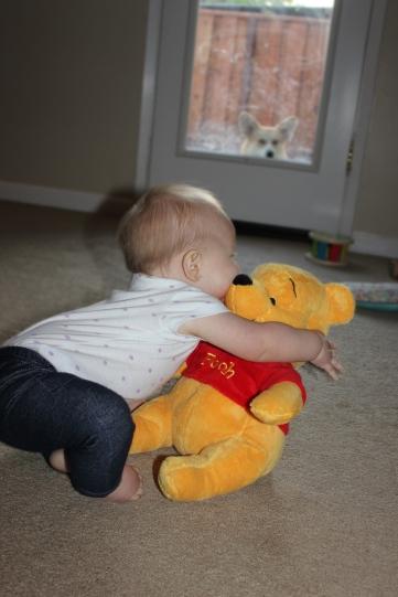 Hugging Pooh Bear