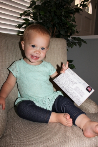 Claire's Auntie Megan started a new tradition of sending a postcard when she visits a new place. Her first postcard arrived from Canada and Claire was so excited!!