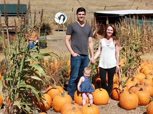 Our trip to the pumpkin patch was a little too hot for our liking. Where is the fall weather?!?
